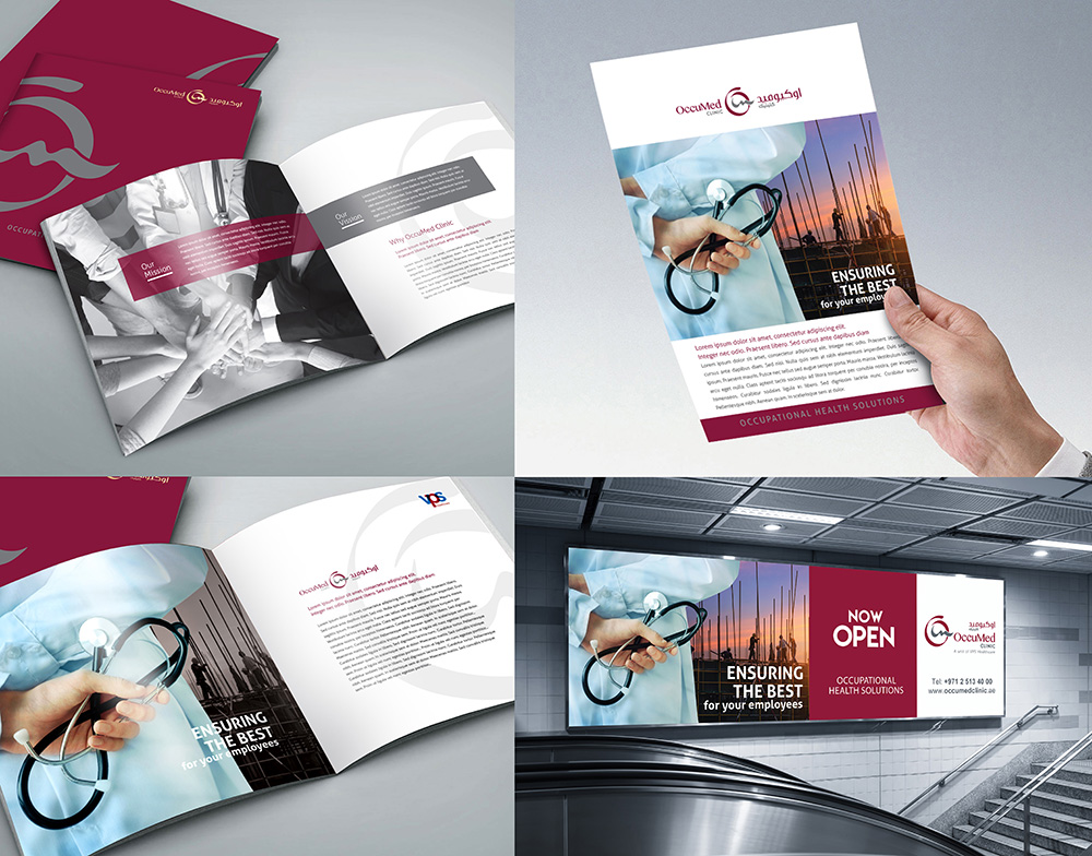 Brochure design and Outdoor signage Abu Dhabi